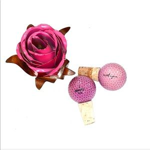 🍷Unique Wilson Breast Cancer Hope Wine Toppers